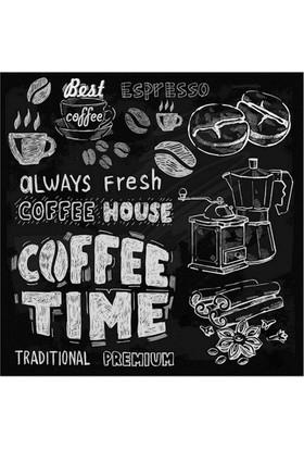 Euro Flora Coffee Time Baskılı Dekoratif Tablo 28X28 Cm