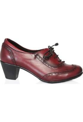 UK Polo Club 64908 Kadın Topuklu Ayakkabı Bordo