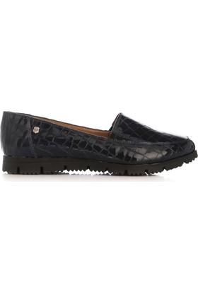 UK Polo Club 64705 Kadın Günlük Ayakkabı Lacivert Kroko Rugan