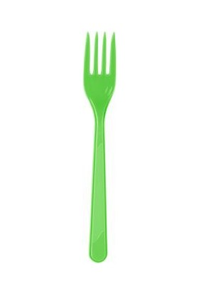 Kikajoy Plastik Çatal Yeşil - 25 adet