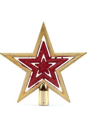 Kikajoy Simli Yıldız Yılbaşı Çam Ağacı Tepeliği - 1 adet