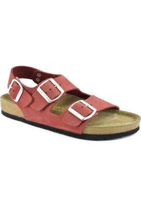 Real Natura 121-Gordion Kırmızı Nubuk Kadın Sandalet