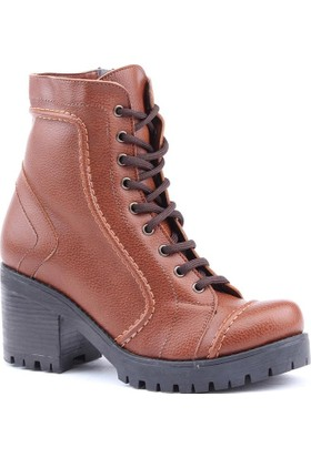 Siber 7187-T Günlük Topuklu Termo Taban 4,5 Cm Bayan Bot Ayakkabı