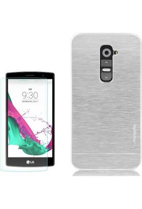 Gpack LG G4C Kılıf Sert Arka Kapak Motomo + Cam
