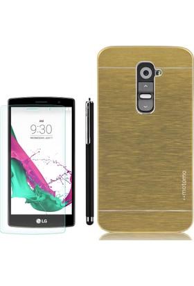 Gpack LG G4C Kılıf Sert Arka Kapak Motomo +Kalem + Cam