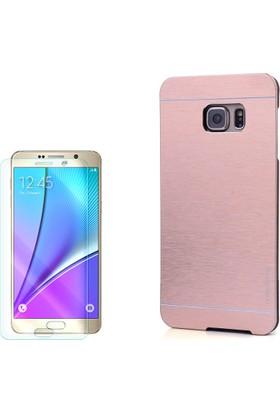 Gpack Samsung Galaxy Note 5 Kılıf Sert Arka Kapak Motomo + Cam