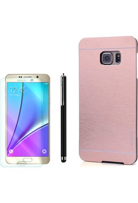 Gpack Samsung Galaxy Note 5 Kılıf Sert Arka Kapak Motomo + Kalem+ Cam