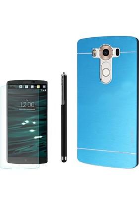 Gpack LG V10 Kılıf Sert Arka Kapak Motomo +Kalem + Cam