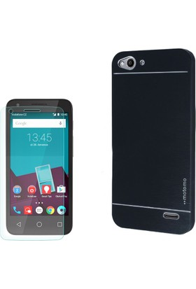 Gpack Vodafone Smart 6 Kılıf Sert Arka Kapak Motomo + Cam