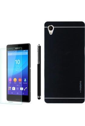 Gpack Sony Xperia Z2 Kılıf Sert Arka Kapak Motomo +Kalem + Cam