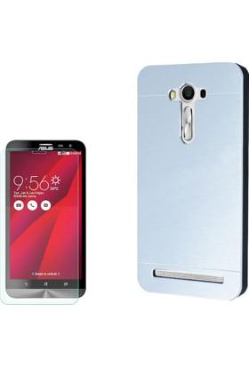 Gpack Asus Zenfone 2 Laser 5.0 Kılıf Sert Arka Kapak Motomo + Cam