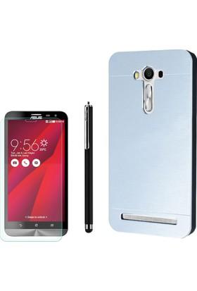 Gpack Asus Zenfone 2 Laser 5.0 Kılıf Sert Arka Kapak Motomo +Kalem+ Cam