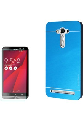 Gpack Asus Zenfone 2 Laser 5.5 Kılıf Sert Arka Kapak Motomo + Cam