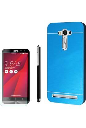 Gpack Asus Zenfone 2 Laser 5.5 Kılıf Sert Arka Kapak Motomo +Kalem+ Cam