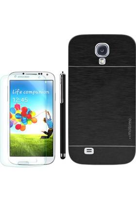Gpack Samsung Galaxy S4 Kılıf Sert Arka Kapak Motomo +Kalem+Cam