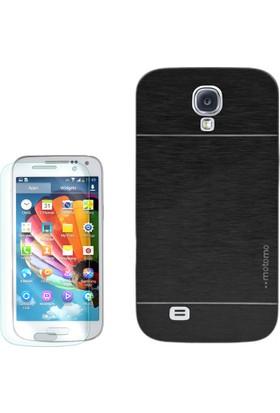 Gpack Samsung Galaxy S4 Mini Kılıf Sert Arka Kapak Motomo + Cam