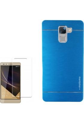 Gpack Huawei Honor 7 Kılıf Sert Arka Kapak Motomo + Cam