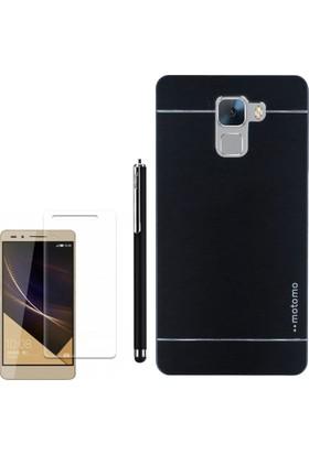 Gpack Huawei Honor 7 Kılıf Sert Arka Kapak Motomo +Kalem + Cam