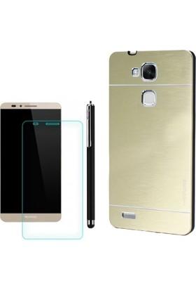 Gpack Huawei Ascend Mate 7 Kılıf Sert Arka Kapak Motomo +Kalem + Cam