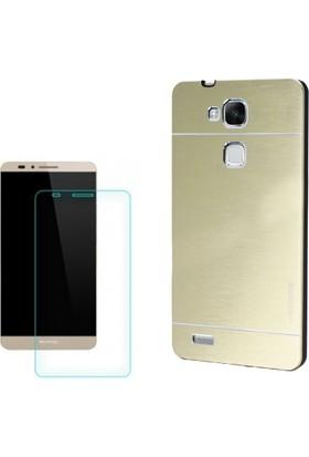 Gpack Huawei Gr5 Kılıf Sert Arka Kapak Motomo + Cam