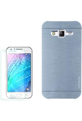 Gpack Samsung Galaxy Core Prime Kılıf Sert Arka Kapak Motomo + Cam