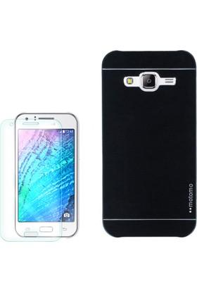 Gpack Samsung Galaxy J1 2015 Kılıf Sert Arka Kapak Motomo + Cam