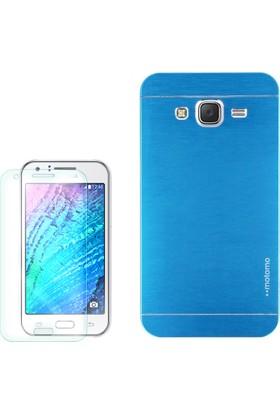 Gpack Samsung Galaxy J1 Mini Kılıf Sert Arka Kapak Motomo + Cam