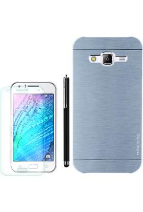 Gpack Samsung Galaxy J1 Mini Kılıf Sert Arka Kapak Motomo +Kalem+Cam