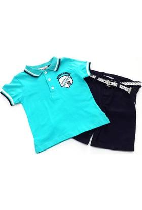Kts Baby Yakalı Tişörtlü Takım 2 - 5 Yaş