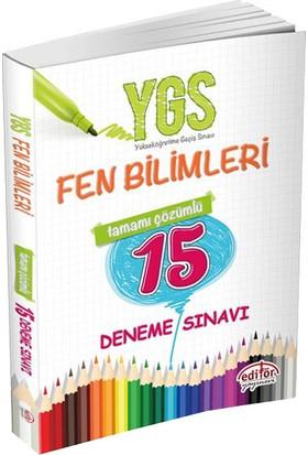 Editör Yayınları Ygs Fen Bilimleri Tamamı Çözümlü 15 Deneme Sınavı
