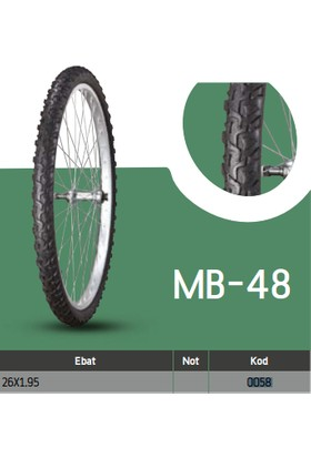 Anlas Bisiklet Dış Lastikleri Mb-48 26X1.95 Mb-48 Tube Type