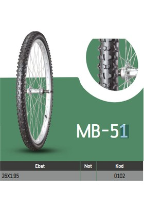 Anlas Bisiklet Dış Lastikleri Mb-51 26X1.95 Mb-51 Tube Type
