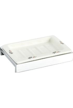 Çelik Banyo Kumru Porselen Set Ustu Sabunluk