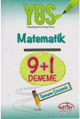 Editör Yayınevi Ygs Matematik 9+1 Deneme Tamamı Çözümlü