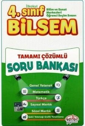 Editör Yayınevi 4. Sınıf Bilsem Tamamı Çözümlü Soru Bankası