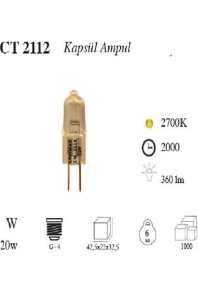 Cata 12 Volt 20 Watt G4 Duylu Halojen Kapsül Ampul