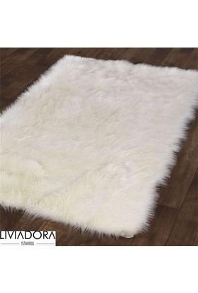 Beyaz Post Halı - 80x150 cm