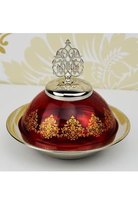 Şehzade Cam Şekerlik - Kırmızı