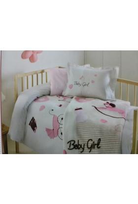 Özdilek Baby Girl Vizon Bebek Battaniyesi Kız Bebek