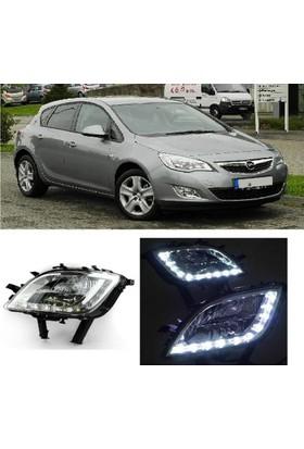 Ptn Opel Astra J 2010-2013 Sis Farı Lambası Sinyalli Gündüz Ledli