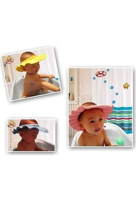 Bundera Göze Su Kaçırmayan Bebek Banyo Şapkası