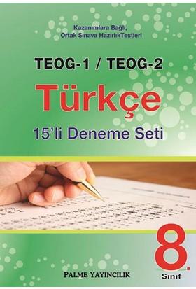 8. Sınıf Teog 1 Teog 2 Türkçe 15Li Deneme Seti Palme Yayınevi