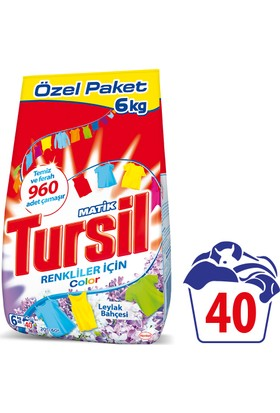Tursil Matik Toz Çamaşır Deterjanı Leylak Color 6 kg