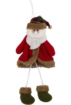 İp Ayaklı Noel Baba Asma Süs 18 cm