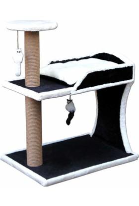 Agira İki Katlı Extra Sağlam Oyuncaklı Ve Yataklı Kedi Tırmalaması 80 Cm