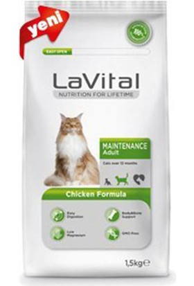 La Vital Cat Maintenance Adult Chicken Formula Yetişkin Kedi Maması 1,5 Kg
