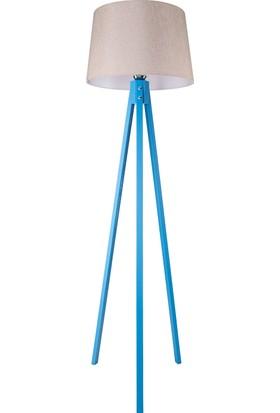 Mavi Tripod Lambader / Pudra Şapka
