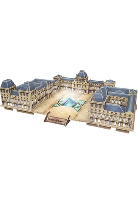 Cubic Fun 3D Puzzle 137 Parça Louvre Müzesi - Fransa (Led Işıklı)