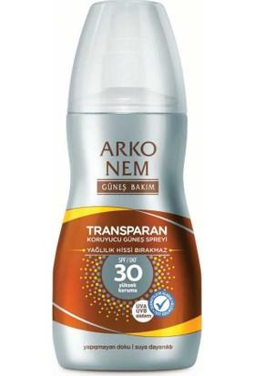 Arko Nem Transparan Koruyucu Güneş Sprey Spf 30 150 Ml