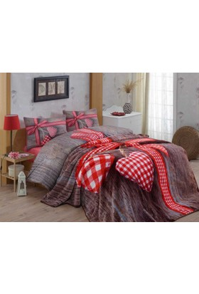Cotton Box Battaniyeli Nevresim Takımı Lovebox Kırmızı Çift Kişilik